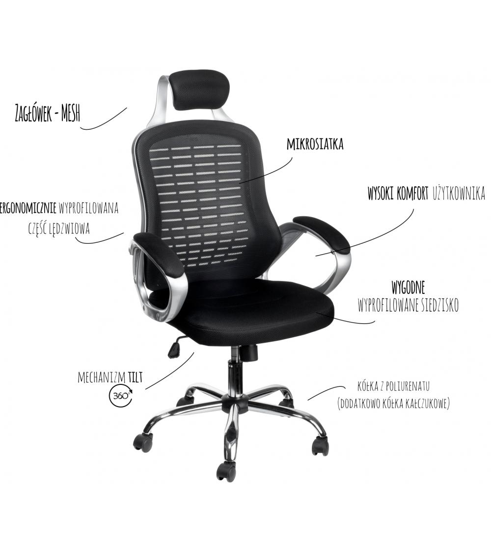 Krzesło obrotowe ERGO 2 Fotele Bettso Meble